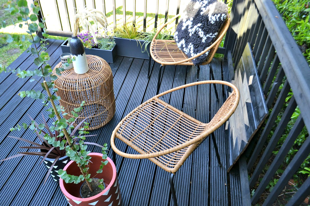 Boho garden furniture