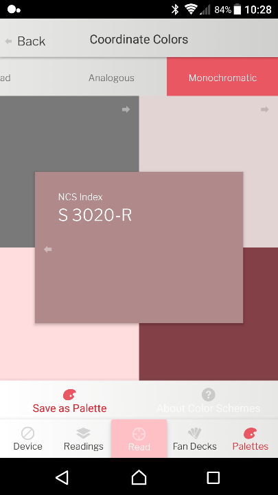 Wall Colour Palettes