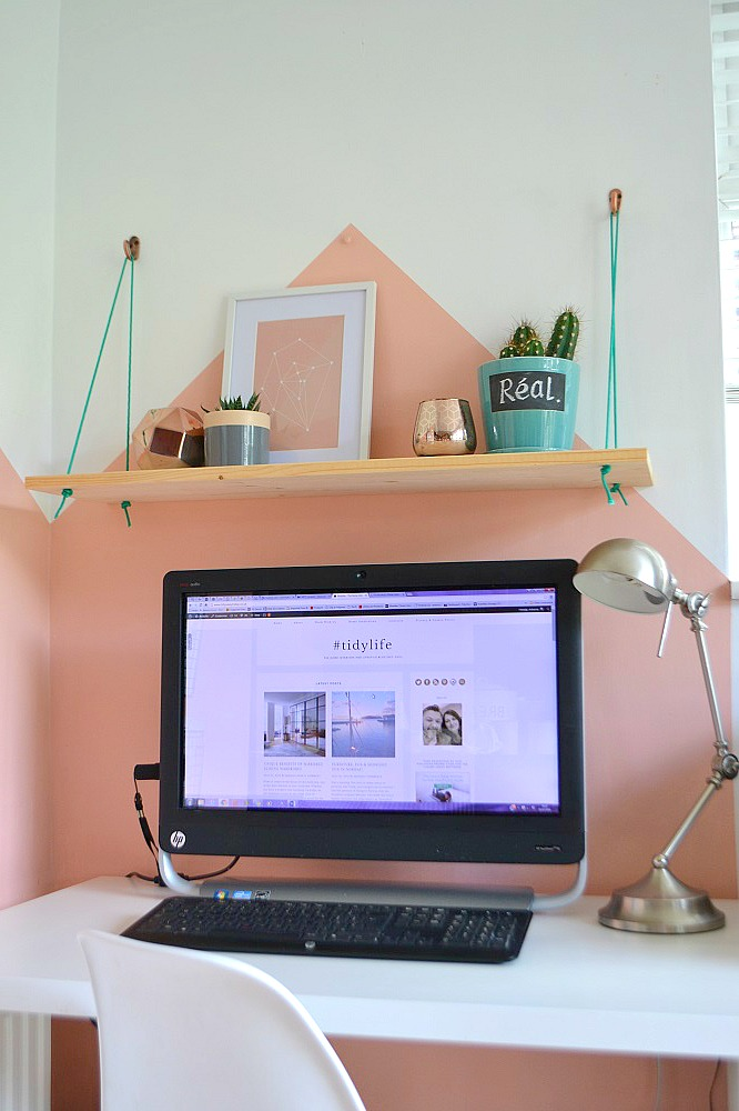Feminine home office workspace