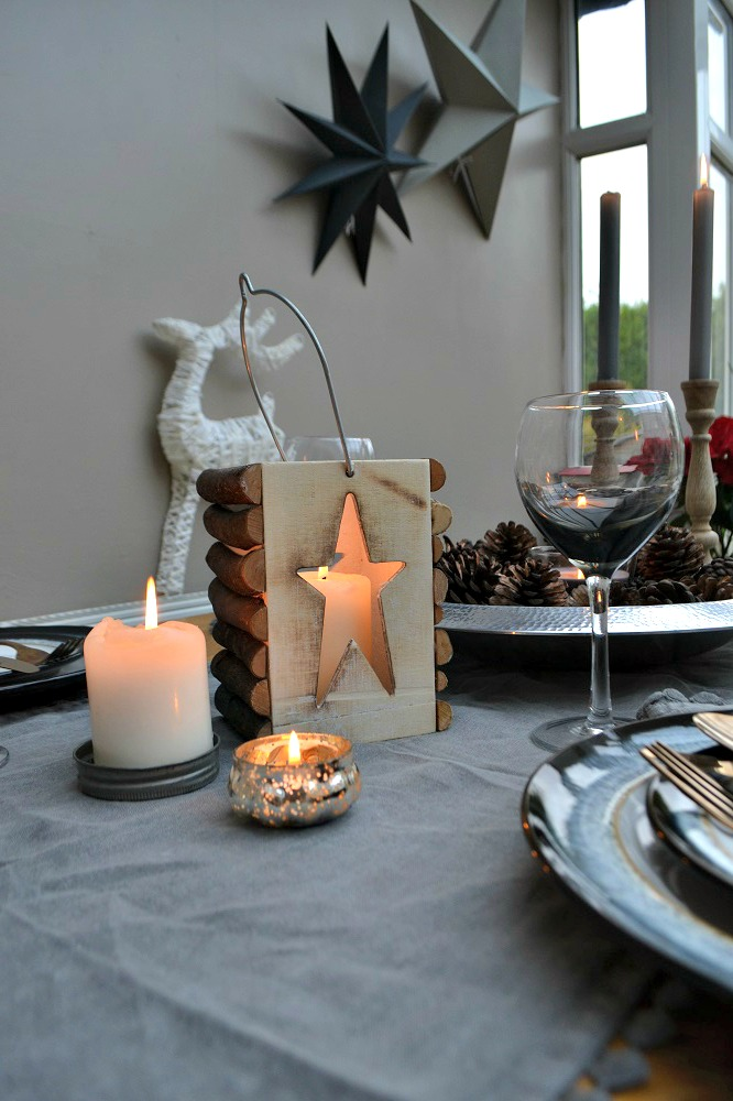 Grey Christmas Table