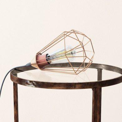 Geometric Copper Lamp