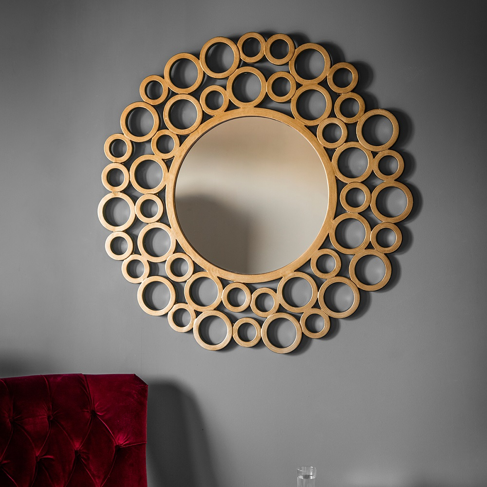 Circular statement mirror