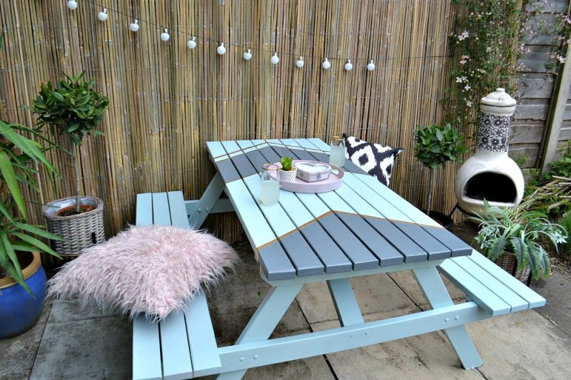 Upcycled garden table