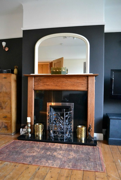 black chimney breast