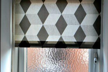 cube design roller blind