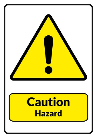 caution hazard