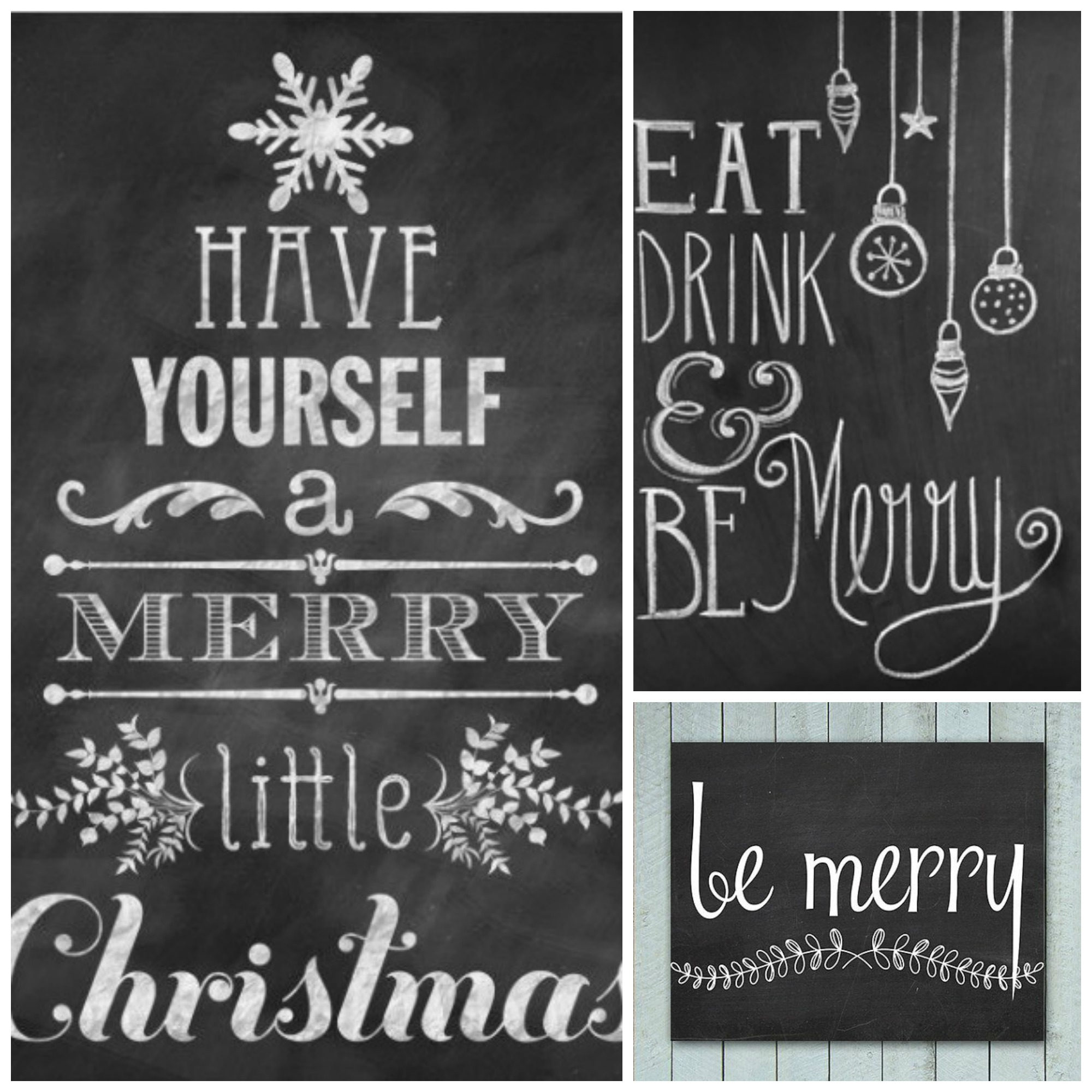 Merry Christmas Writing Ideas.A Very Merry Chalkboard Tidylife