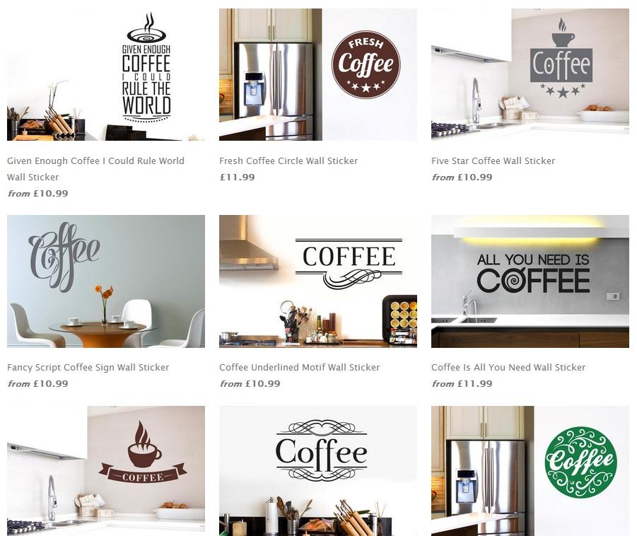 coffee wallsticker