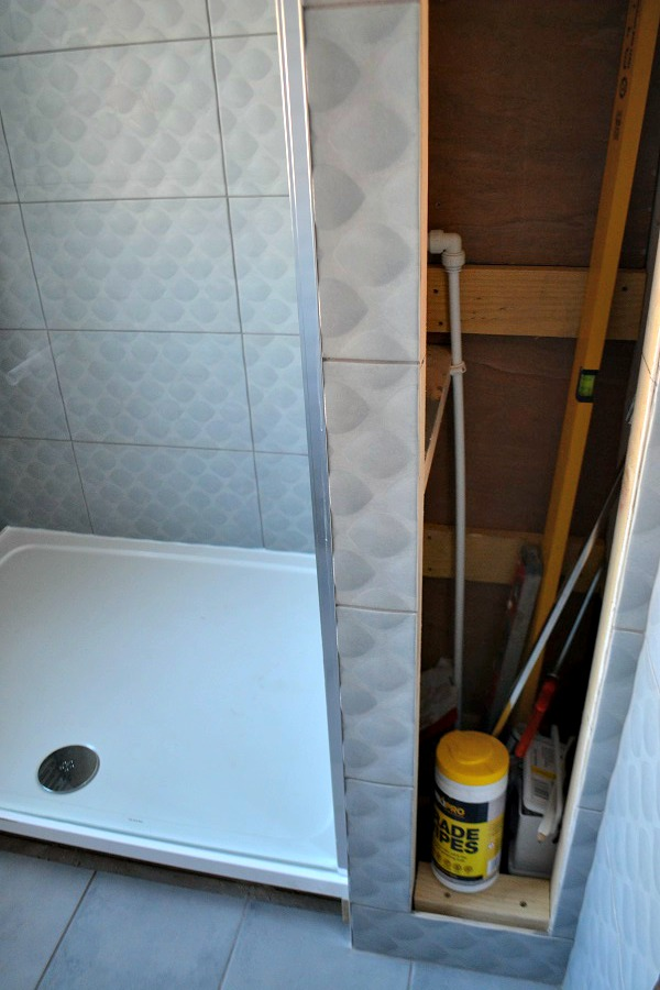 built in bathroom cupboard