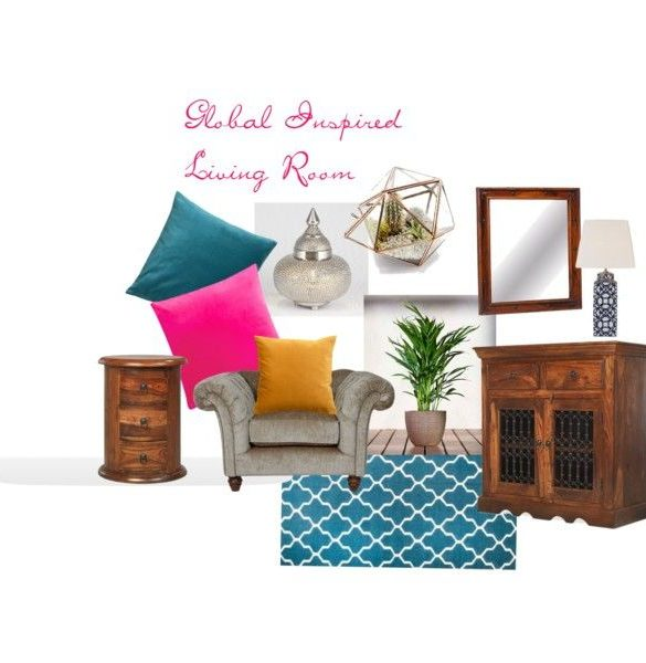 Global Living Room Mood Board