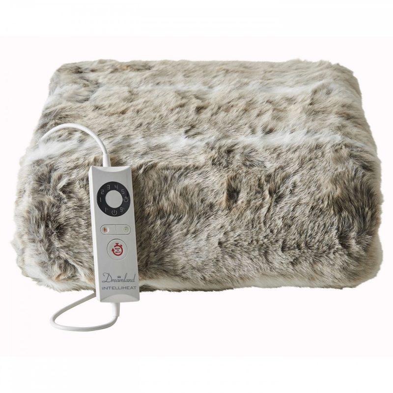 heated faux fur throw