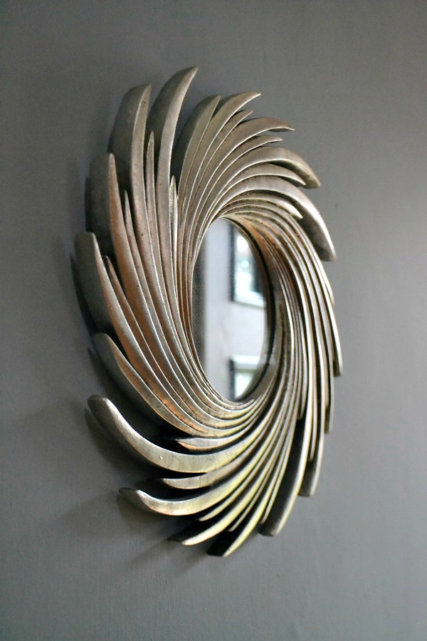 Review Small Silver Swirl Sun Effect Mirror Tidylife