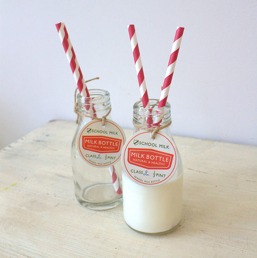 school milk bottles