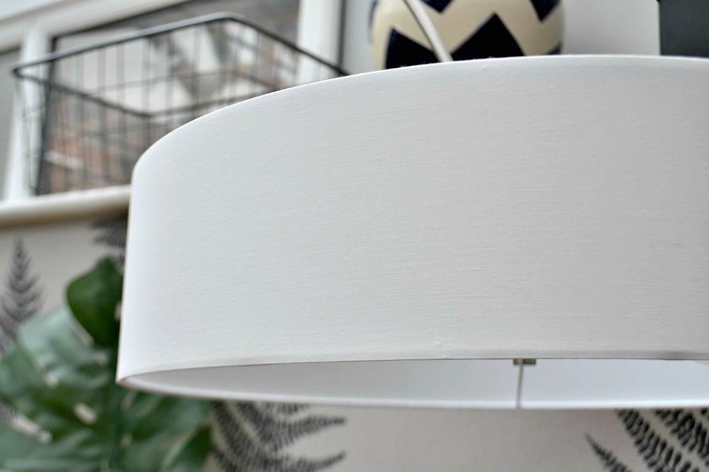 white fabric lamp shade