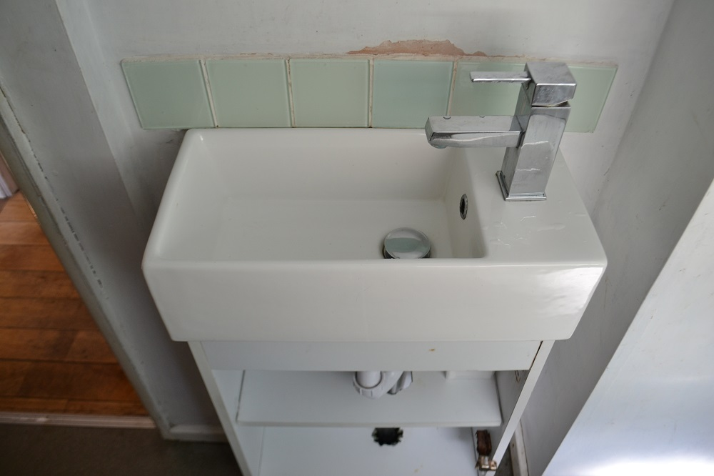 replace a cloakroom vanity unit