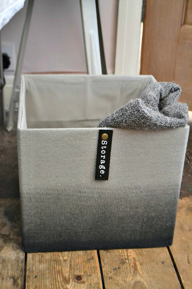 fabric storage box ombre